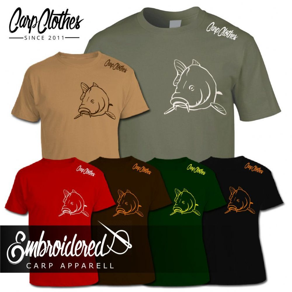 004 EMBROIDERED CARP  T-SHIRT